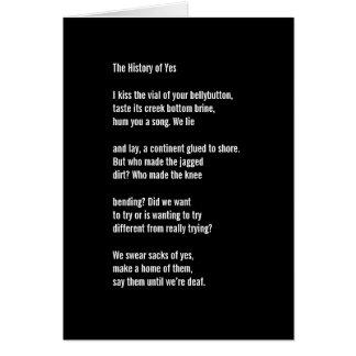 """Cartão """"A história de sim """""""