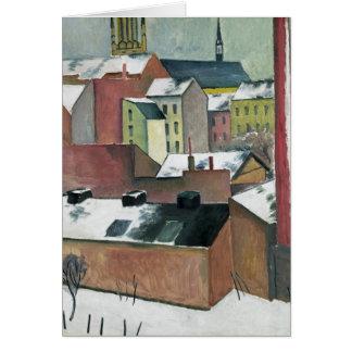 Cartão A igreja de St Mary em Bona em Neve, 1911