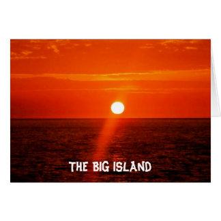 Cartão A ilha GRANDE - Havaí