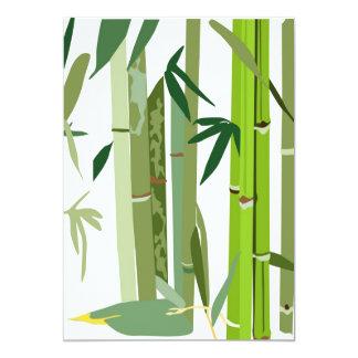 Cartão A ilustração de bambu japonesa convida