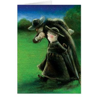 Cartão A ilustração do leitor de Brown do pai