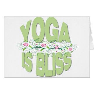 Cartão A ioga é camisas da felicidade