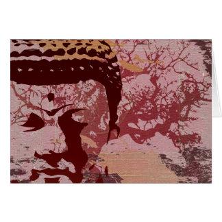 Cartão A ioga fala: Gráfico da árvore de Buddha