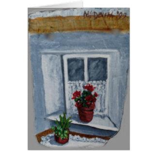Cartão A janela de Mary
