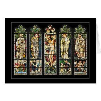 Cartão A janela do leste, igreja de Troutbeck, Cumbria