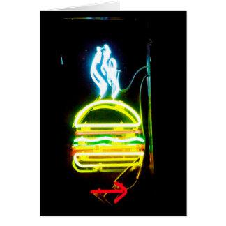Cartão A junção NYC do hamburguer