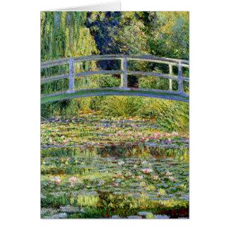 Cartão A lagoa do Água-Lírio por belas artes de Monet