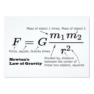 Cartão A lei de Newton da gravitação universal