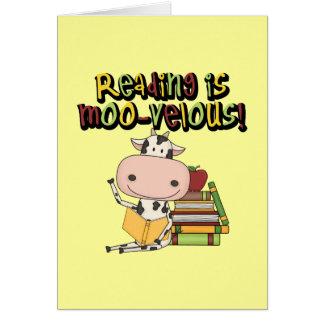 Cartão A leitura é MOO-velous