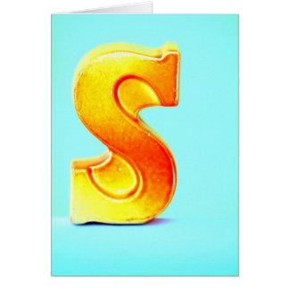 """Cartão A letra """"S """""""