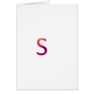 """Cartão A letra """"s"""" representa esperto"""