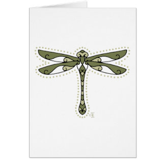 Cartão A libélula celta