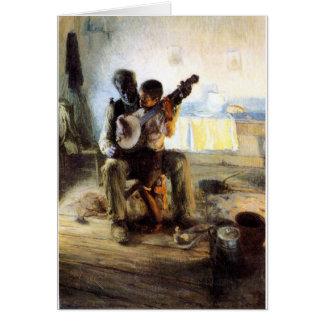 Cartão A lição do banjo