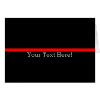 Cartão A linha vermelha fina simbólica personaliza esta