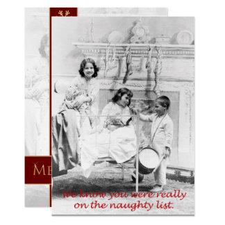 Cartão A lista impertinente, um Natal personalizado