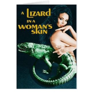 Cartão A Lizard in a Woman's Skin, vintage horror movie