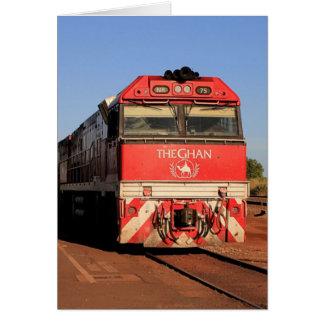 Cartão A locomotiva do trem de Ghan, Darwin