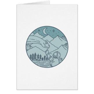 Cartão A lua do Brontosaurus do astronauta Stars o