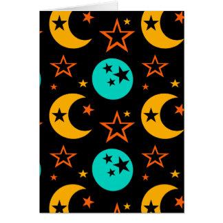 Cartão A lua Stars a astrologia estrelado Wiccan da