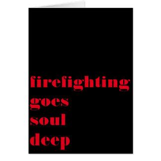 Cartão A luta contra o incêndio é mais do que uma