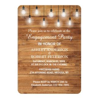 Cartão A madeira rústica simples ilumina a festa de
