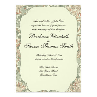 Cartão A madressilva antiga do casamento personaliza o