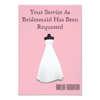 Cartão A madrinha de casamento ou a dama de honra