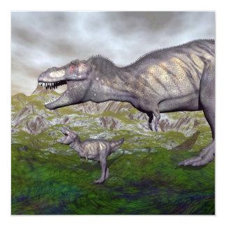Cartão A mãe do dinossauro do rex do tiranossauro e o