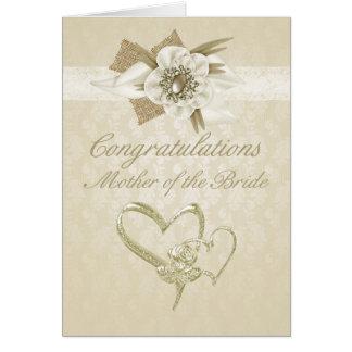 Cartão A mãe dos parabéns da noiva carda a sagacidade de