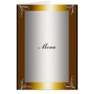 Cartão A maioria de menu popular do casamento