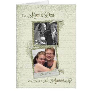 Cartão À mamã & ao pai no Aniversário-Costume do __th