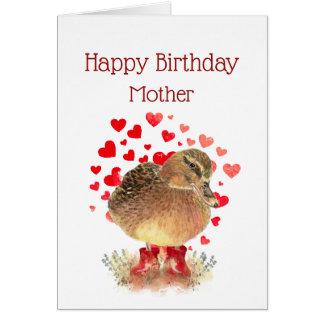Cartão A mamã do feliz aniversario, sere de mãe a botas