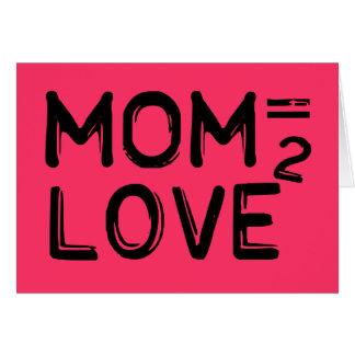 Cartão A mamã iguala o rosa esquadrado amor