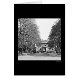Cartão A mansão do governador em Richmond, VA 1865