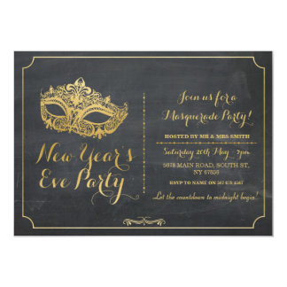 Cartão A máscara do partido da véspera dos anos do ano