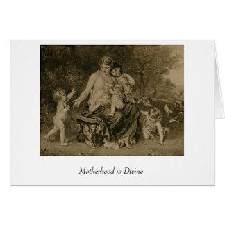 Cartão A maternidade é divina