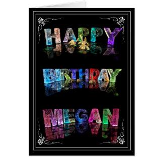 Cartão A Megan conhecida em 3D ilumina-se (a fotografia)