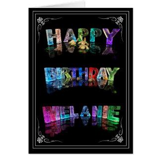 Cartão A Melanie conhecida em 3D ilumina-se (a