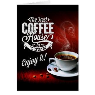 Cartão A melhor casa do café na cidade