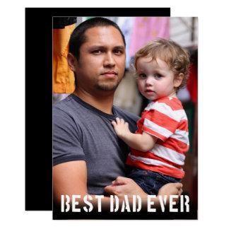 Cartão A melhor foto sempre minimalista do dia dos pais