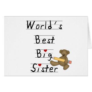 Cartão A melhor irmã mais velha do mundo