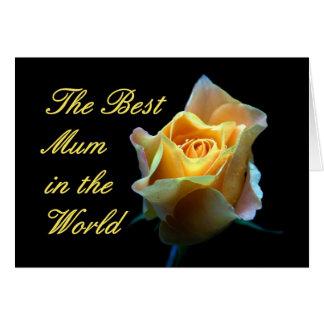 Cartão A melhor mãe no mundo