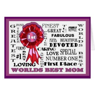 Cartão A melhor mamã Card#3 dos mundos adoráveis da parte