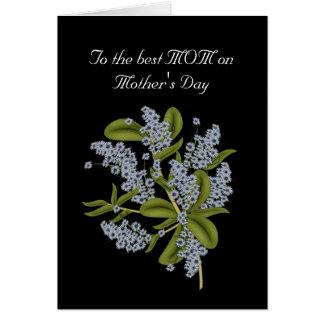 Cartão À melhor mamã no dia das mães