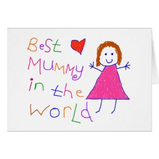 Cartão A melhor mamã no mundo