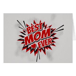 Cartão A melhor mamã nunca