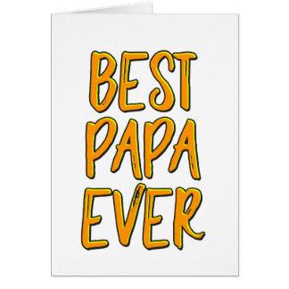 Cartão A melhor papá nunca