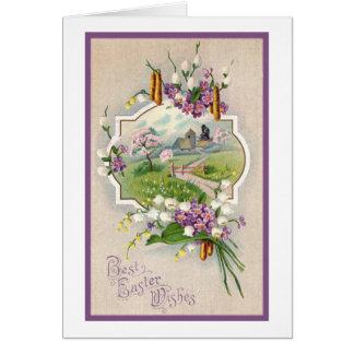 Cartão A melhor páscoa deseja o vintage
