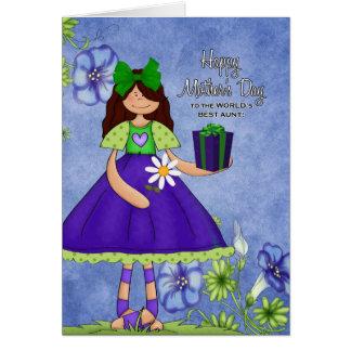 Cartão A melhor tia do mundo no dia das mães