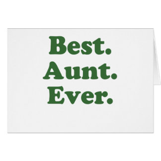 Cartão A melhor tia Nunca